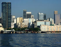 Rio de Janeiro downtown view. With ferry, naval museum,  and downtown skyline on the background Stock Photography