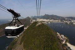 Rio de Janeiro - Drahtseilbahn Stockfoto