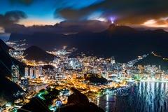 Rio de Janeiro em a noite Imagens de Stock Royalty Free