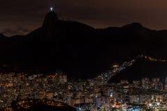 Rio de Janeiro en la noche Fotografía de archivo libre de regalías