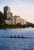 Rio de Janeiro, enfileirando no lago Fotos de Stock Royalty Free