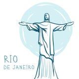 Rio de Janeiro et Christ le rédempteur, Brésil illustration stock