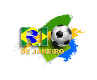 Rio De Janeiro 2014. Football event sample Royalty Free Illustration