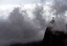 Christ in Rio de Janeiro. The famous Christ the Redeemer statue at the top of the Corcovado peak in Rio de Janeiro royalty free stock photo