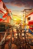 Rio De Janeiro favela i śródmieście zdjęcie stock