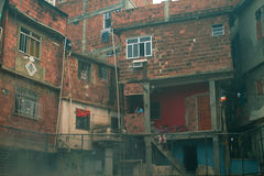 Rio de Janeiro, Favela (Krottenwijk) stock foto's