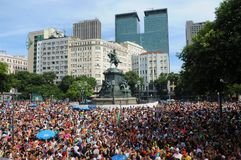 Carnaval de Rua. Rio de Janeiro, February 15, 2013 Royalty Free Stock Photos