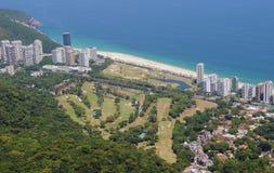 View of São Conrado beach stock photography