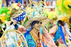 RIO DE JANEIRO - FEBRUARY 11: A woman in costume dancing on carn Stock Photos