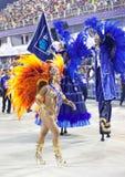 RIO DE JANEIRO - FEBRUARY 10: A woman in costume dancing on carn Stock Image