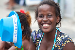 RIO DE JANEIRO - FEBRUARY 11: A woman fun on free people's carni Royalty Free Stock Image