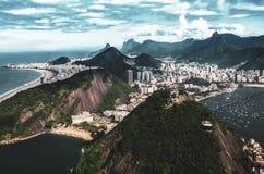 Rio de Janeiro från Pau de Acucar royaltyfria bilder