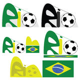 Rio de Janeiro graphic. Concept illustration for the city of Rio de Janeiro, in Brazil Stock Image