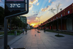 Rio de Janeiro ha il giorno di inverno più caldo: centigrado 37 gradi Fotografia Stock