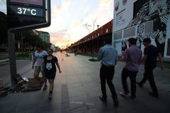 Rio de Janeiro ha il giorno di inverno più caldo: centigrado 37 gradi Immagini Stock Libere da Diritti