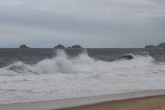 Rio de Janeiro has rough seas on a hangover day royalty free stock photo