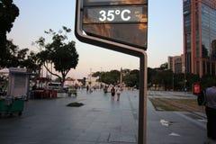 Rio de Janeiro heeft de heetste de winterdag: 37 graden van Celsius Stock Foto's