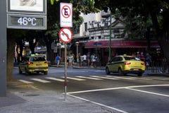Rio de Janeiro heeft de hoogste temperatuur in 2016 Stock Foto's
