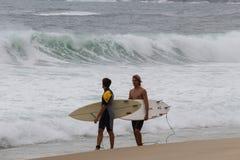 Rio de Janeiro heeft ruwe overzees op een katerdag royalty-vrije stock foto