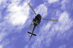 Rio De Janeiro, helicopter flying above heads Royalty Free Stock Photos
