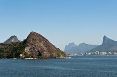 Rio de Janeiro Hills. Niteroi and Rio de Janeiro Mountains, Brazil Royalty Free Stock Image