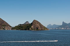 Rio de Janeiro Hills. Niteroi and Rio de Janeiro Mountains, Brazil Stock Image