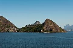 Rio de Janeiro Hills. Niteroi and Rio de Janeiro Mountains, Brazil Stock Photos