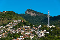 Rio de Janeiro Hills with Slums Royalty Free Stock Image
