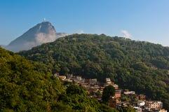 Rio de Janeiro Hills with Slums Stock Photo