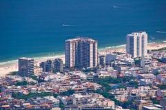 Rio de Janeiro Hotels. Hotel buildings and residential houses in Barra da Tijuca beach in Rio de Janeiro Stock Photos