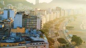 Rio De Janeiro Hotels And Public-Häuser Stockfotografie