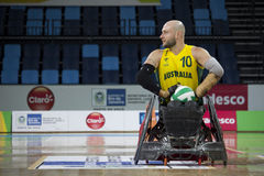 Rio de Janeiro 2016 - internationell rullstolrugbymästerskap Fotografering för Bildbyråer