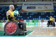 Rio de Janeiro 2016 - internationell rullstolrugbymästerskap Arkivbild