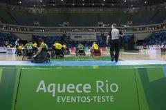Rio de Janeiro 2016 - internationell rullstolrugbymästerskap Arkivbilder
