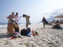 Rio de Janeiro Ipanema Beach Vendors Lizenzfreie Stockfotos