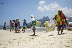Rio de Janeiro Ipanema Beach Vendors Royalty Free Stock Photography
