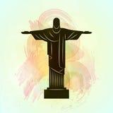 Rio de Janeiro Jesus Christ la statua del redentore Immagini Stock Libere da Diritti