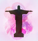 Rio de Janeiro Jesus Christ the redeemer statue. Royalty Free Stock Photography