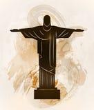 Rio de Janeiro Jesus Christ the redeemer statue. Stock Images