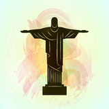 Rio de Janeiro Jesus Christ the redeemer statue. Royalty Free Stock Images