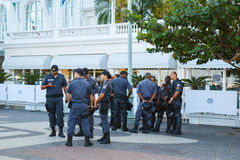 RIO DE JANEIRO - June 15: Military  police  provide security for Royalty Free Stock Photos