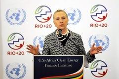Hillary Clinton. Rio de Janeiro, June 19, 2012.nUS Secretary of State Hillary Clinton during Rio 20 conference in Rio de Janeiro, Brazil stock images