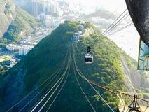 Rio de Janeiro kabelbil Royaltyfri Fotografi