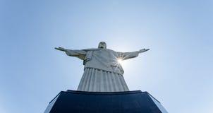 Rio de Janeiro Kristus den Reedemer statyn, Corcovado, Brasilien Arkivbilder