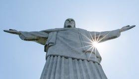 Rio de Janeiro Kristus den Reedemer statyn, Corcovado, Brasilien Royaltyfria Foton