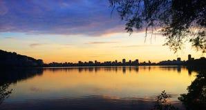 Rio de janeiro, lagoa Rodrigo de Freitas Imagem de Stock