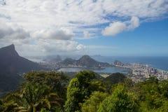 Rio de Janeiro landscape, Brazil. Landscape of Rio de janeiro seen from Vista Chinesa, Brazil Stock Photography