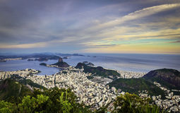 Rio de Janeiro in late afternoon Royalty Free Stock Images