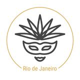 Rio de Janeiro, ligne icône de vecteur du Brésil illustration libre de droits