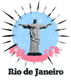 Rio de Janeiro Logo Banner. Banner logo for Rio de Janeiro depicting Christ the Redeemer, a famous landmark statue of Jesus Christ. The second largest Art Deco Royalty Free Stock Image